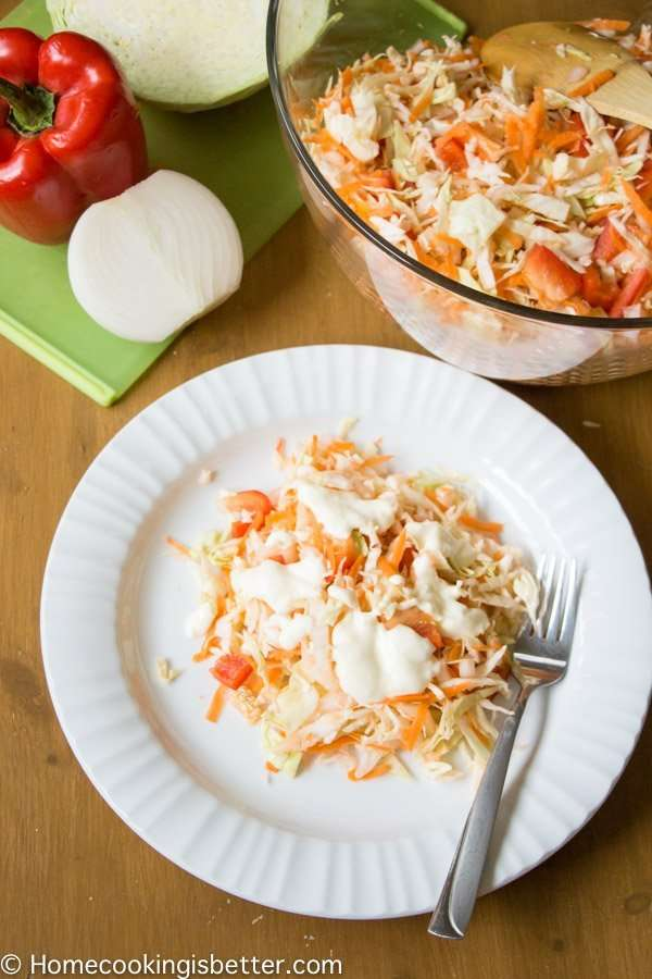 Cabbage Bell Pepper Carrot Salad