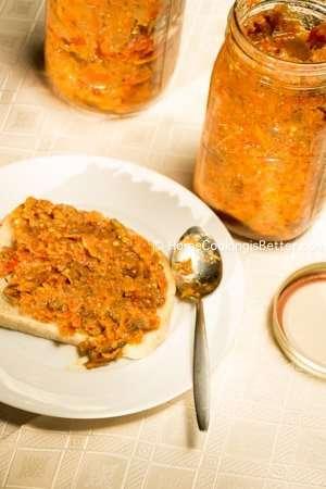 eggplant masala spread dip