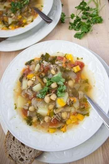 Shurpa Veggie Meat soup recipe