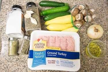 Turkey Mushroom Zucchini Bake Recipe