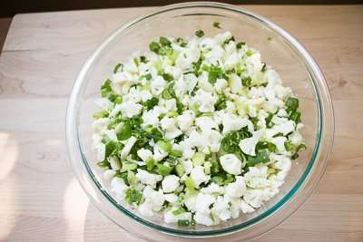 Cauliflower Green Onion Salad Recipe-1