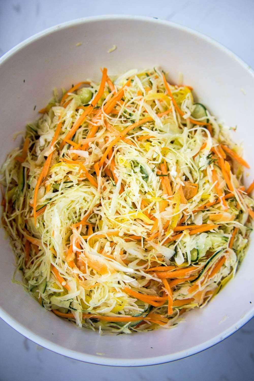 Easy Sliced Cabbage Salad