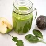 Sugar Free Apple Spinach Avocado Smoothie