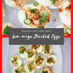 Easy Low mayo deviled eggs